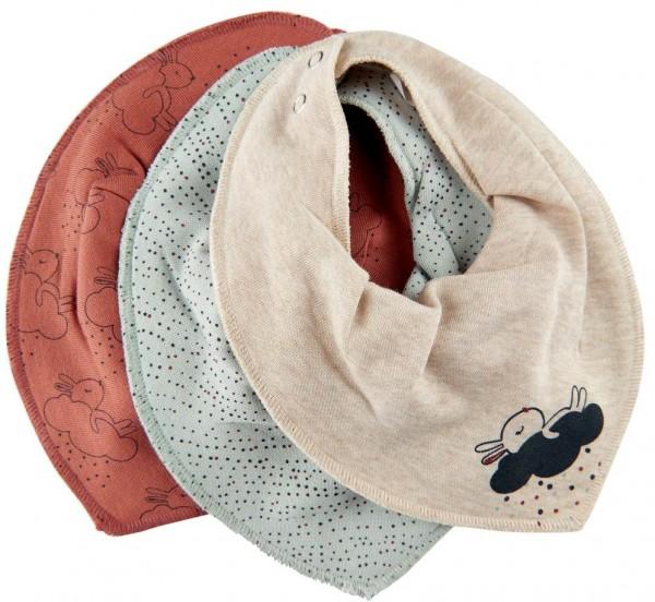 Pippi Baby Dreieckstücher 3er Pack Häschen + Punkte