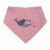Baby Halstuch rot/weiß geringelt Wal Bio-Baumwolle