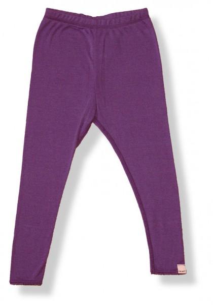 Celavi Legins lange Unterhose Farbe lila Merino Schurwolle Ökotex100