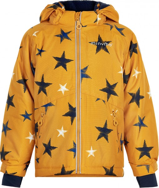MINYMO Kinder Winterjacke golden yellow Stars