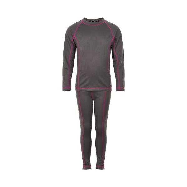 Minymo Mädchen Funktionsunterwäsche grau/pink SPORTS