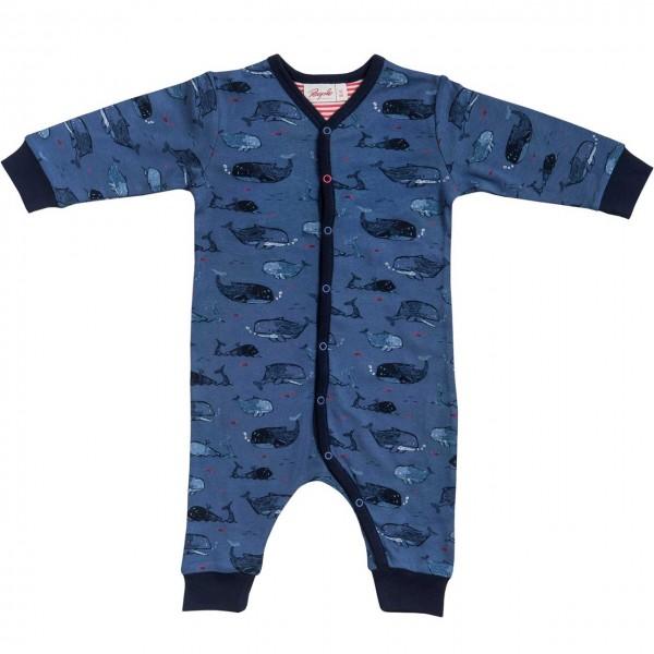 Baby Overall WALE Schlafanzug blau Bio-Baumwolle