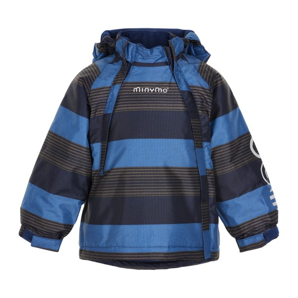Minymo Winterjacke Le93 Doppelzipper pavement blau gestreift