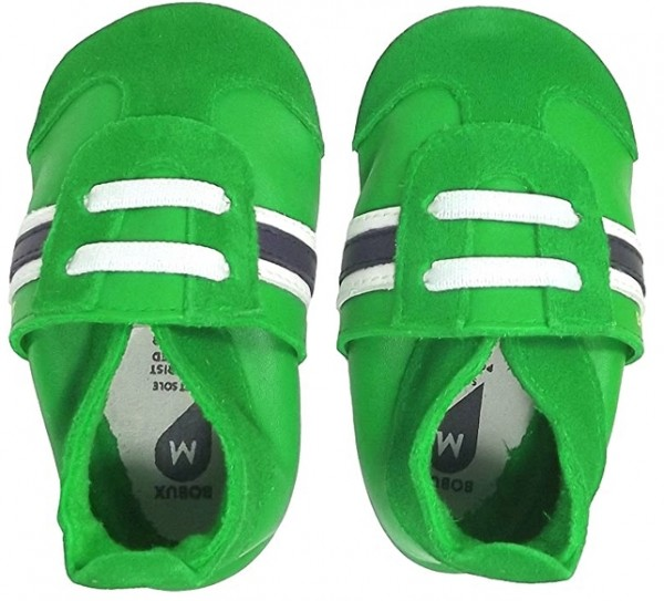 Bobux Classic Sport grün Leder Krabbelschuhe