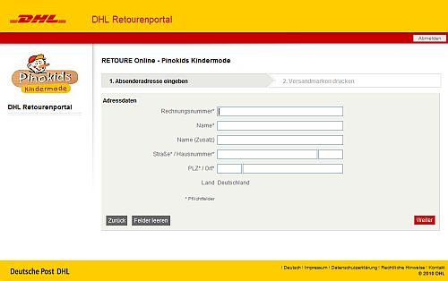 DHL_Retourenportal