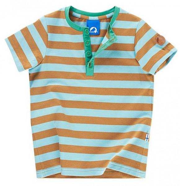 Finkid TIKKARI lagoon/cinnamon Kinder T-Shirt Blockstreifen