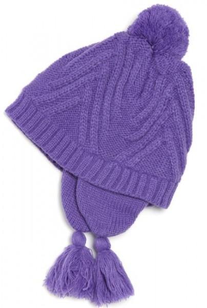 Kamik Mädchen Wintermütze lila gestrickt