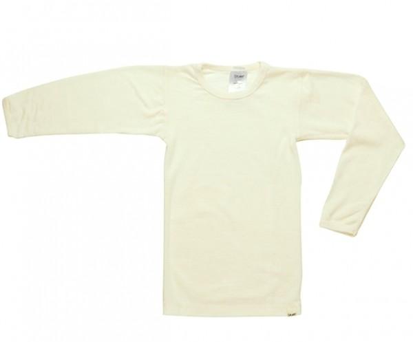 Celavi Unterhemd Langarm Farbe natur wollweiß Schurwolle