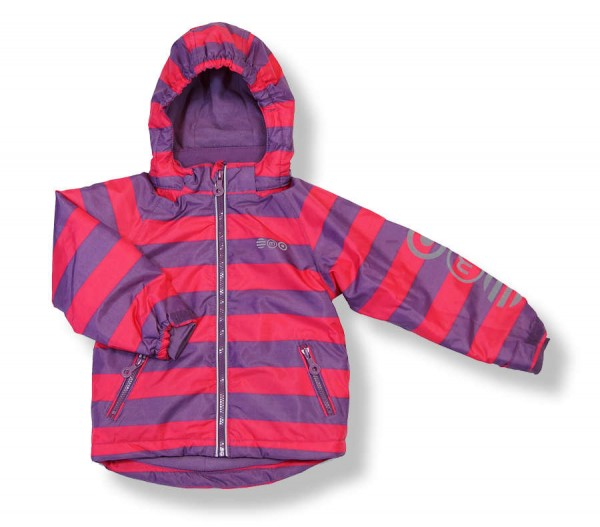 MINYMO Now07 Grape Jam Blockstreifen Skijacke Winterjacke
