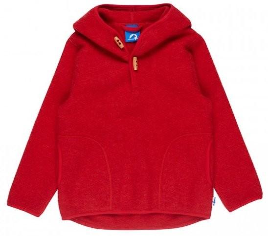 Finkid JUSSI WOOL Wollfleece Pullover red melange