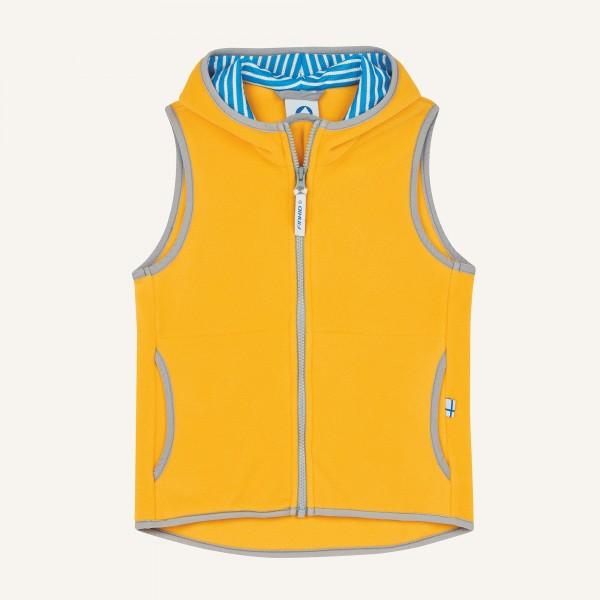 Finkid POPPELI Fleeceweste yellow/storm