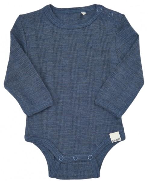 Celavi Baby Wollbody jeansblau