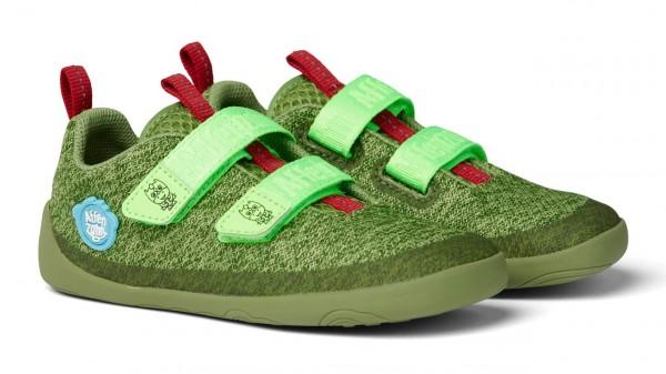 Affenzahn Barfußschuhe DRACHE KLETT grün Knit