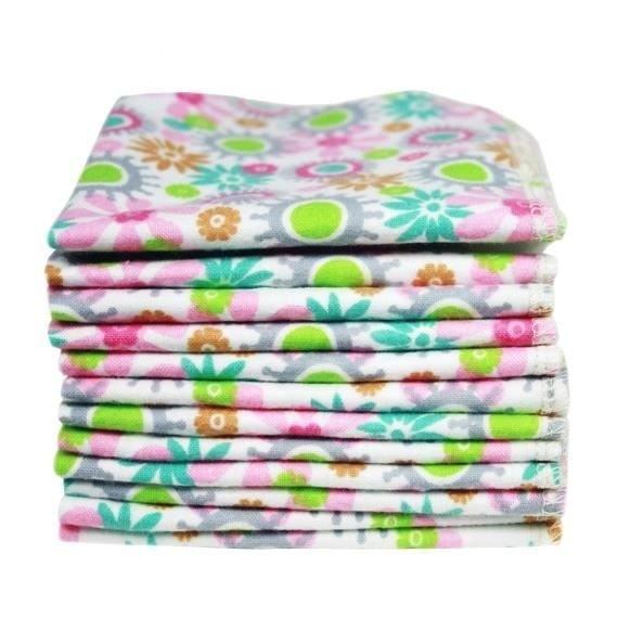 ImseVimse Pflegetücher mit Blumenmuster 12er Pack wiederverwendbare Feuchttücher