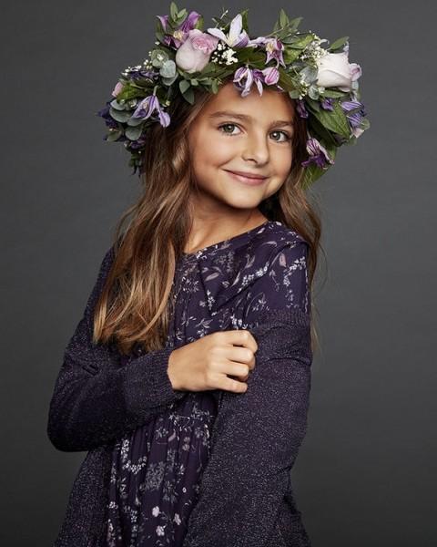 Creamie Mädchenkleid violett nightshade Blumenmuster