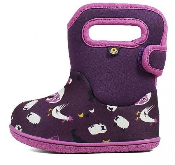 BOGS Baby Bogs FARM purple Mädchen Winterstiefel für Laufanfänger