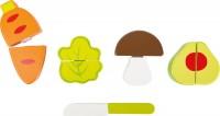 Kleines Gemüse Set aus Holz Schneidegemüse