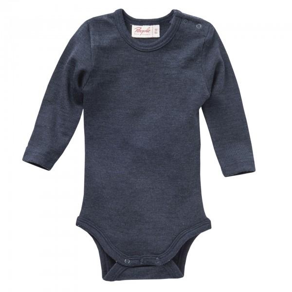 People Wear Organic Baby Langarmbody Wolle-Seide Body