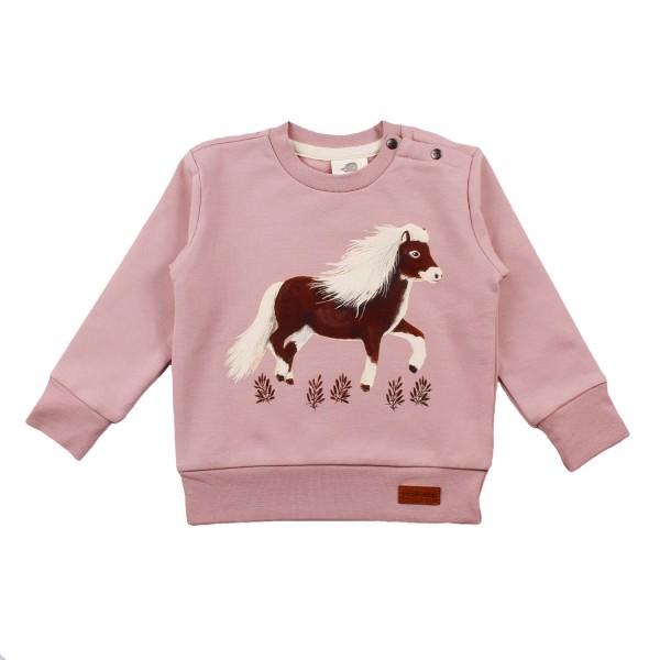Walkiddy Mädchen Sweatshirt Pony rosa Biobaumwolle