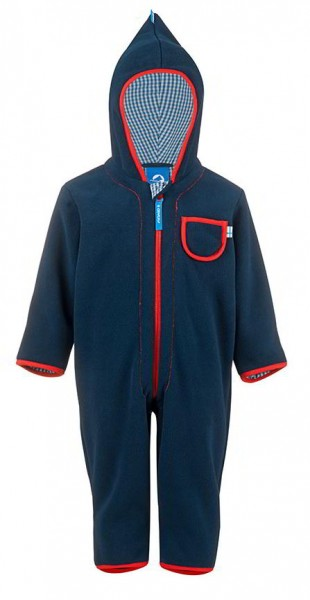 Finkid Puku Fleeceoverall navy/red