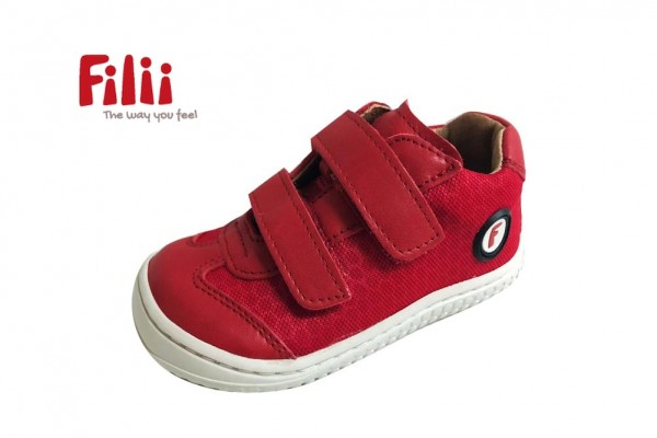 Filii Sneaker LEGUAN Barfußschuhe strawberry red