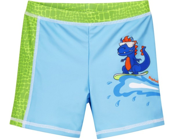Kinder UV-Schutz Badeshorts Dino hellblau