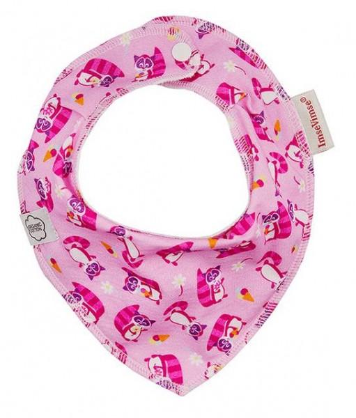 ImseVimse Lätzchen Waschbär pink Halstuch