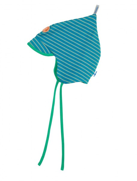 Finkid POPI SPRING seaport/trellis Jersey Zipfelmütze mit Sonnenschild