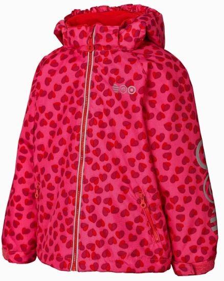 MINYMO Thunder33 Herzchen pink hibiscus Winterjacke Outdoorjacke atmungsaktiv
