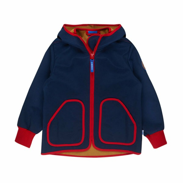 Finkid TOVE SHELL Softshelljacke navy/red