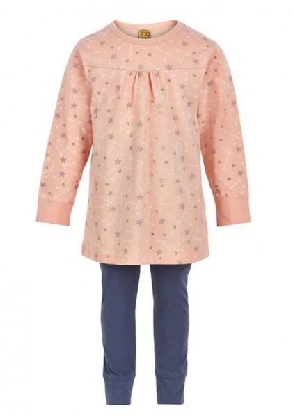Celavi Mädchen Schlafanzug apricot Stars