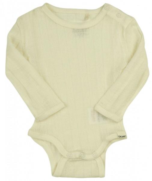 Celavi Baby Body aus Merinowolle offwhite natur