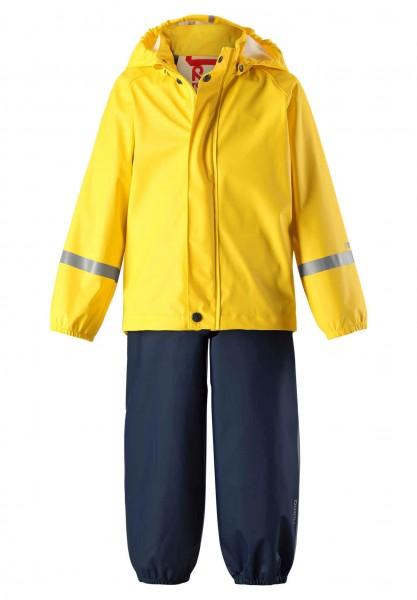 Reima Regenset TIHKU gelb/navy Regenhose und Regenjacke