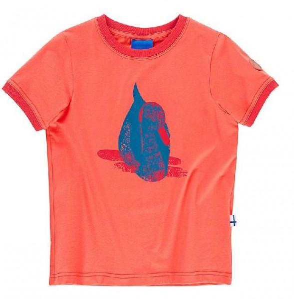 Finkid TRAMPOLIINI Mädchen T-Shirt Kurzarm coral/fire