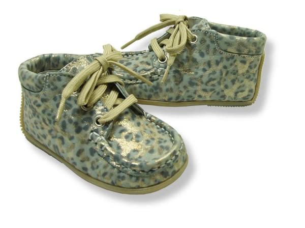 Jochie Lauflernschuhe extra weich offwhite Panther Leopard