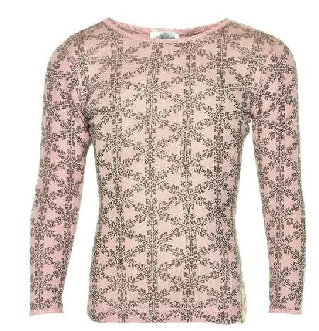 Celavi Langarmshirt hell rosa Schneeflocke Unterhemd Wolle