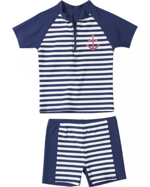 UV Schutz Anzug für Kinder Sonnenschutzanzug Zweiteiler Maritim Streifen