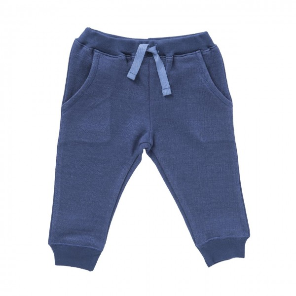 Baby Jogginghose jeansblau melange Bio-Baumwolle
