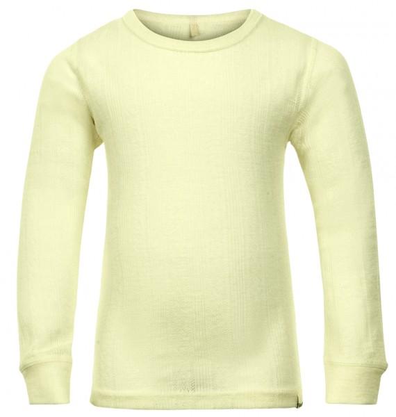 Celavi Langarmshirt natur offwhite Merinowolle Unterhemd
