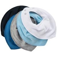 Pippi Halstücher 5er Pack Blautöne Babyhalstücher