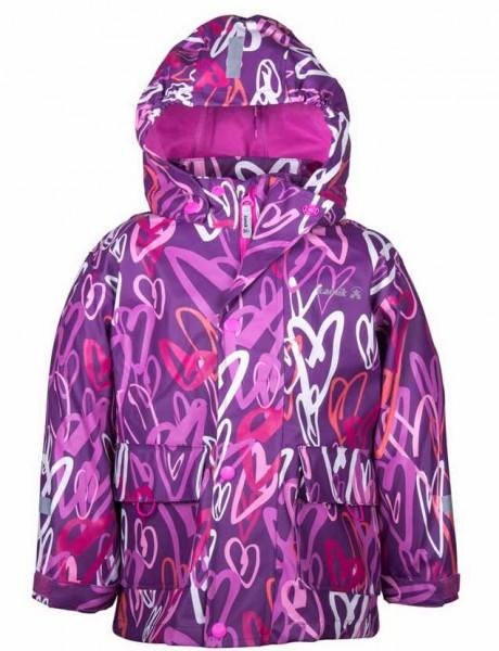 Kamik Kinder Regenjacke cool Hearts violett mit Textilfutter