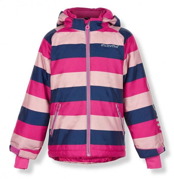 MINYMO Kinder Winterjacke Le90 Blockstreifen pink / softrose