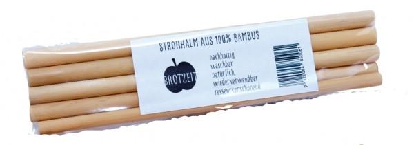 Brotzeit Bambus Trinkhalme 5er Pack wiederverwendbare Strohhalme