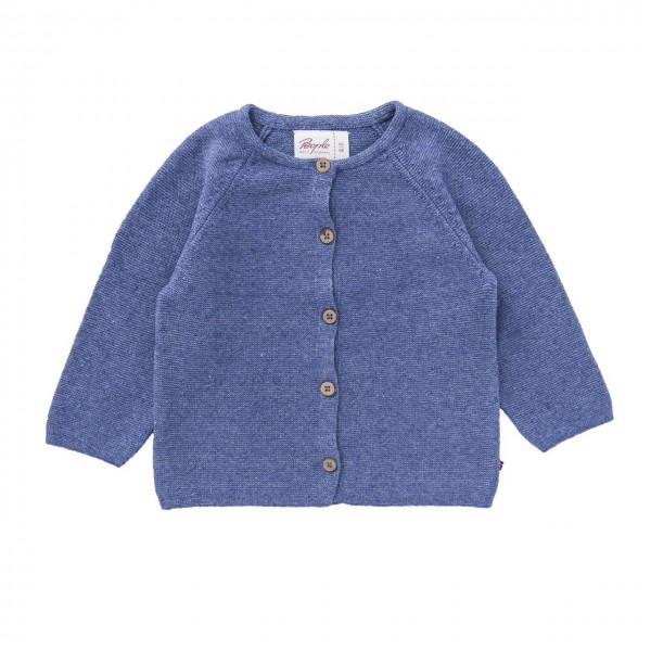 Baby Strickjacke jeansblau melange Bio-Baumwolle
