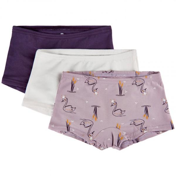 Celavi Mädchen Hipster Panties lila/flieder Unterhosen 3er Pack