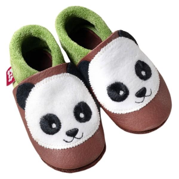 Pololo Lederhausschuhe Panda
