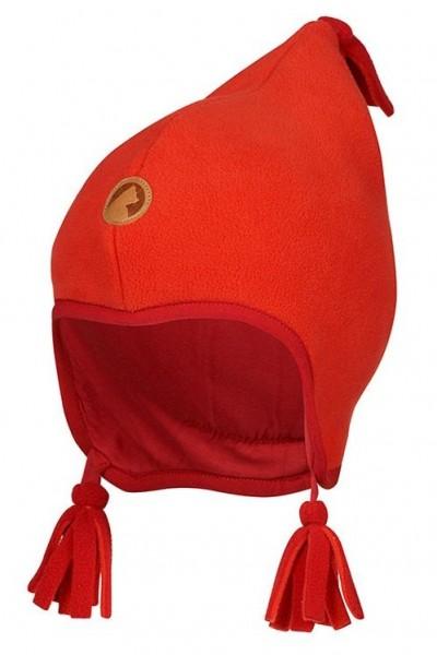 Finkid Pipo fire/red Winter Fleecemütze mit Baumwollfutter