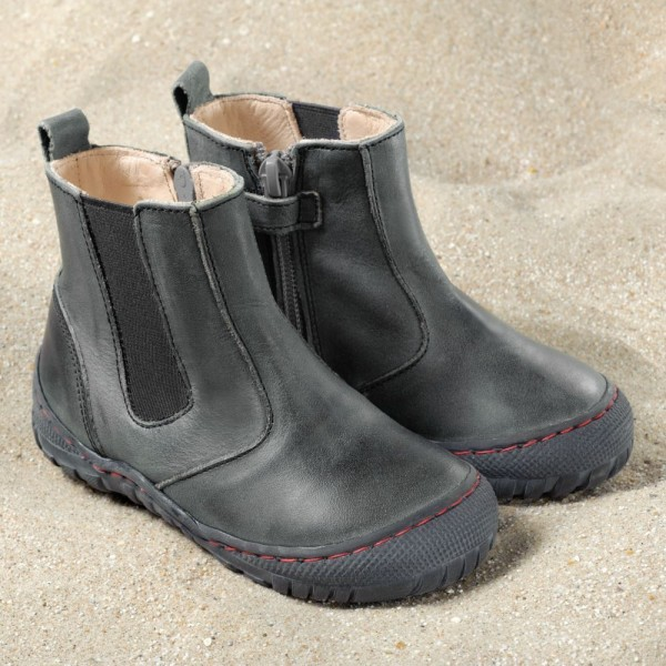 Pololo Kinderschuhe Chelsea Boots Farbe schiefer robust aus Ökoleder