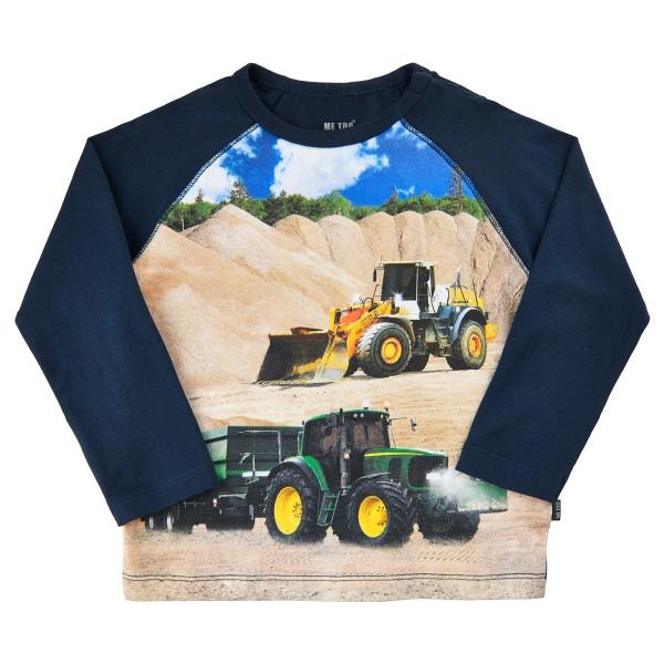 Metoo Langarm T-Shirt Traktor mit Anhänger + Radlader