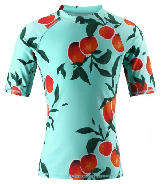 Reima Kinder UV Schwimmshirt Ionian türkis mit Orangen UV-Schutz 50+